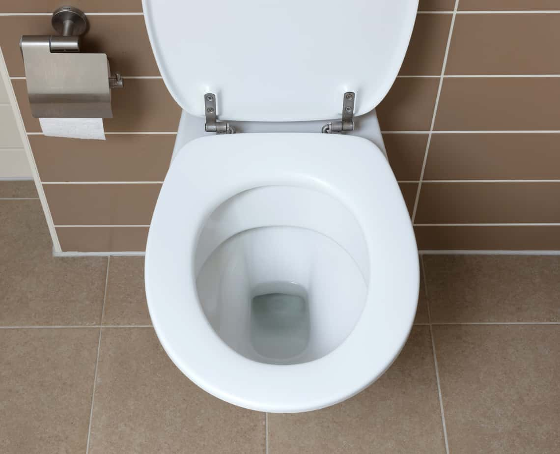 White Toilet Bowl In The Bathroom Project For Home